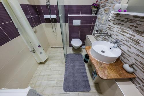 Koupelna v ubytování Apartman Lavanda