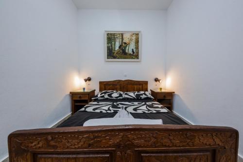 Postel nebo postele na pokoji v ubytování Apartman Lavanda