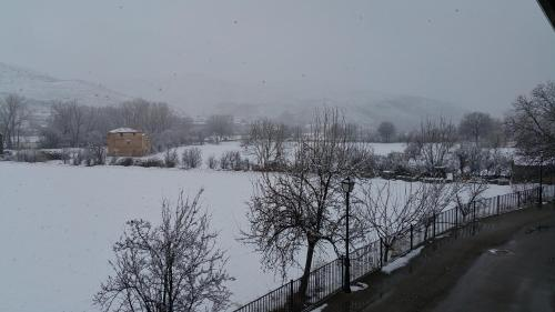 Casa Rural Claudia during the winter