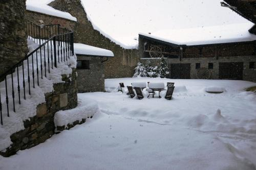 Cal Marrufès during the winter