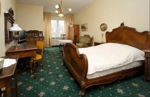 Łóżko lub łóżka w pokoju w obiekcie Hotel Sen