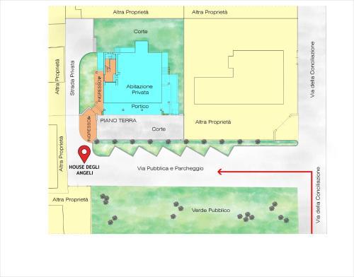 Planimetria di House degli Angeli Apartments