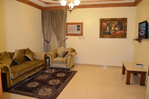 Uma área de estar em Badova residential units