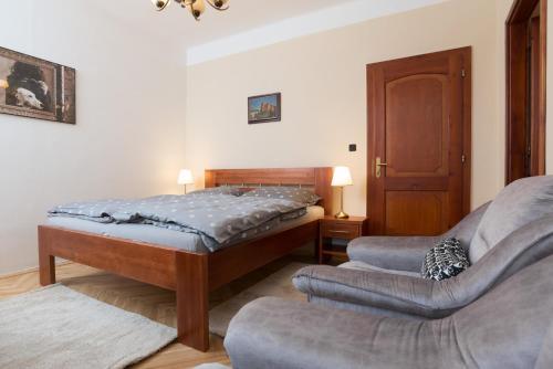 Кровать или кровати в номере Pension Ibérica