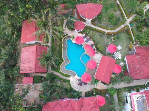 Blick auf Top Resort aus der Vogelperspektive