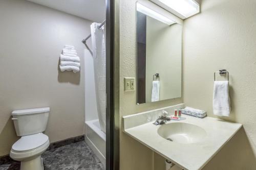 A bathroom at Econo Lodge - Valley City