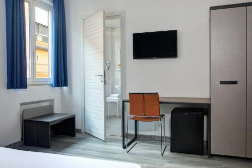 A television and/or entertainment center at The RomeHello