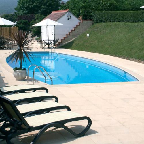 The swimming pool at or close to Hydro Hotel