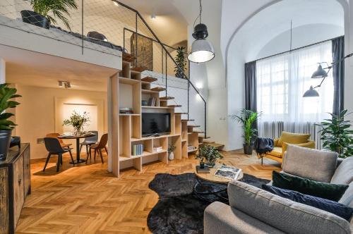 A seating area at Lazenska N°4