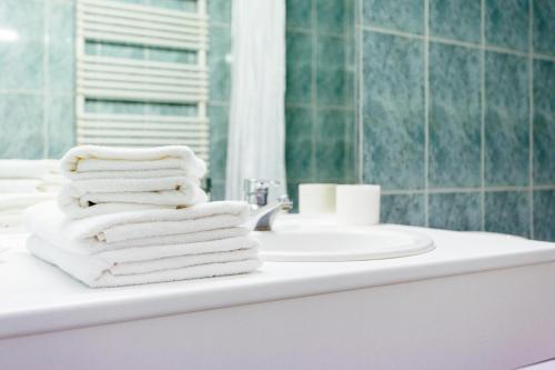 A bathroom at Hotel Prado