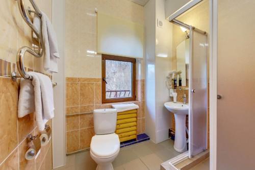 Ванная комната в Гостиница Очаровательная Полянка