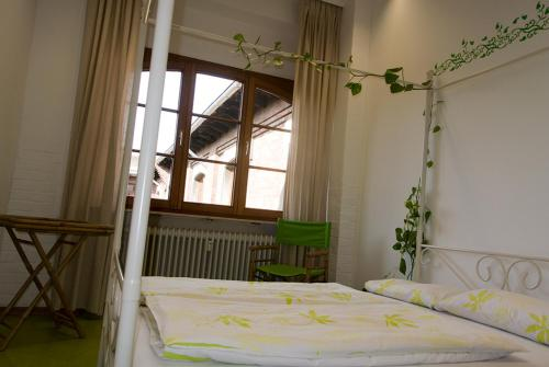 A bed or beds in a room at Steffis Hostel Heidelberg