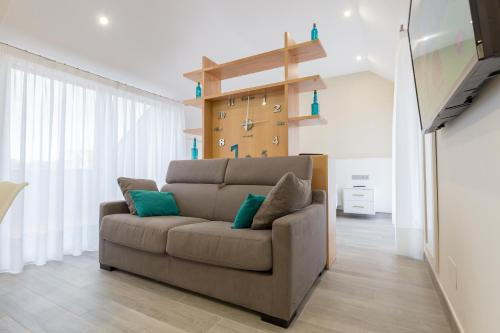 Uma área de estar em Lofts Complejo Playa Mar