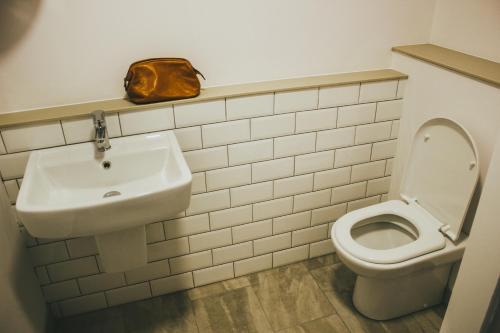A bathroom at The Flint
