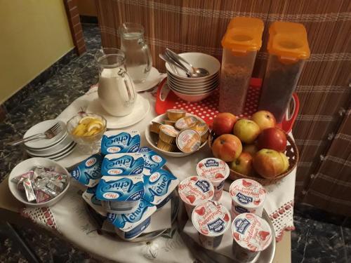Možnosti snídaně pro hosty v ubytování Penzion Aneta