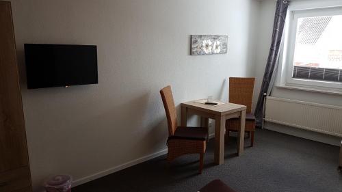 TV/Unterhaltungsangebot in der Unterkunft Hotel Deutsches Haus Francop