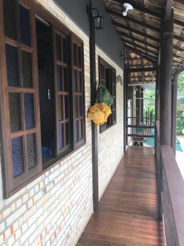 Uma varanda ou terraço em Biergarten Hostel