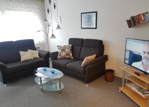 Ein Sitzbereich in der Unterkunft Harzburger Ferienwohnung