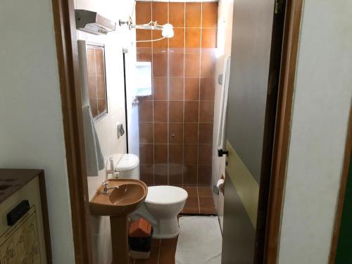 A bathroom at Pousada da Orla