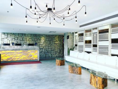 The lobby or reception area at Bay Hotel Ho Chi Minh
