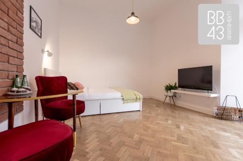 Telewizja i/lub zestaw kina domowego w obiekcie Apartament BB43 II