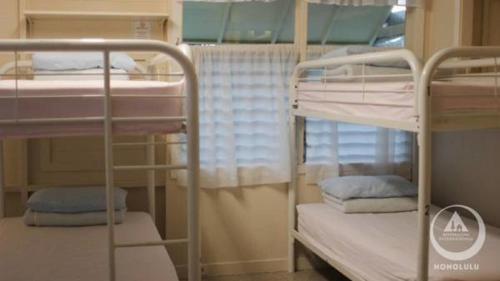 ホステリング インターナショナル ホノルルにある二段ベッド