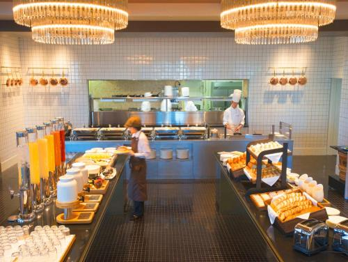 A restaurant or other place to eat at Imperial Hotel Osaka