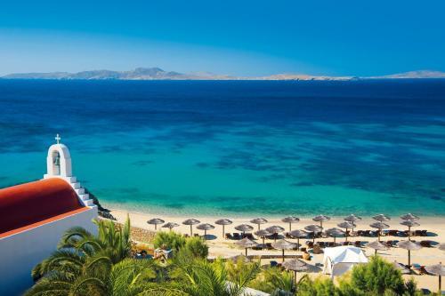 Blick auf Mykonos Grand Hotel & Resort aus der Vogelperspektive