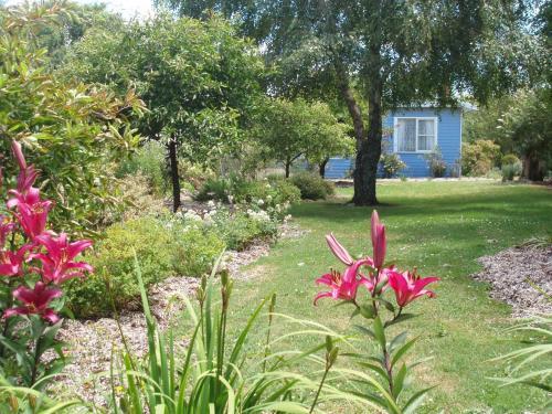 A garden outside Boat Harbour Garden Cottages