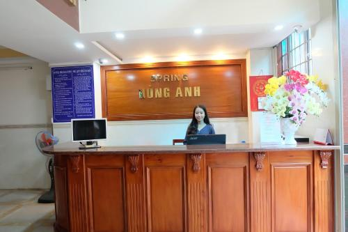 The lobby or reception area at Spring Hung Anh Hotel