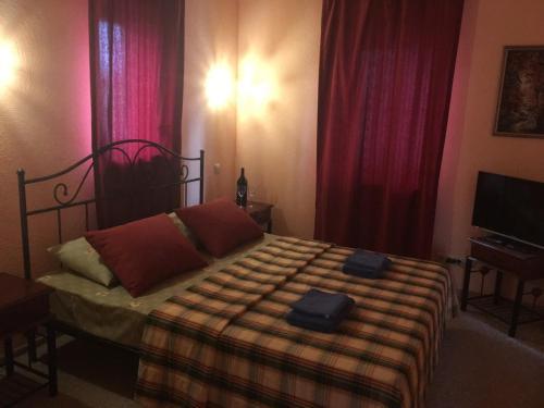 Кровать или кровати в номере Мини-отель Крафт