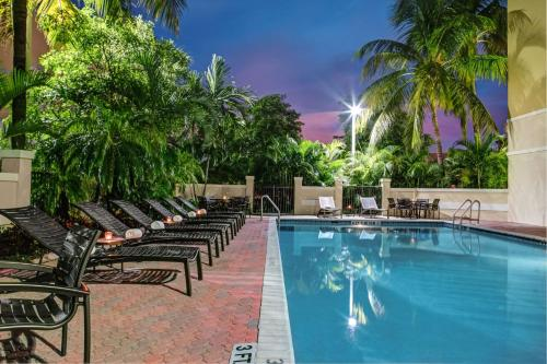 The swimming pool at or near Hyatt Place Fort Lauderdale Cruise Port