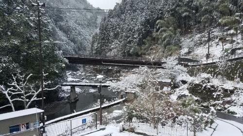 Yadori Onsen Iyashinoyu during the winter
