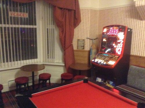 A billiards table at Victoria Hotel Blackpool
