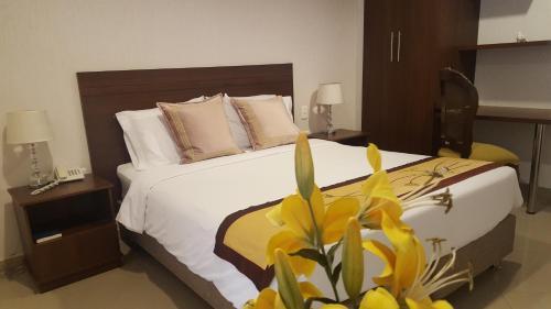 Cama o camas de una habitación en Casa Murillo Hotel