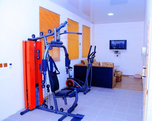 Gimnasio o instalaciones de fitness de Arkanchi Hotel