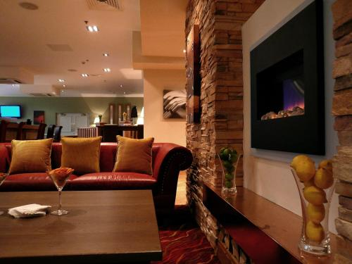A seating area at Meon Valley Hotel, Golf & Country Club