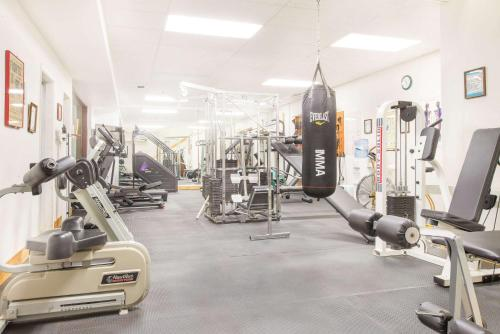 The fitness center and/or fitness facilities at Days Inn by Wyndham Thermopolis