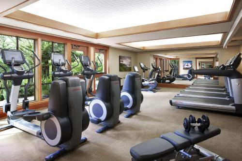 The fitness center and/or fitness facilities at Hyatt Carmel Highlands