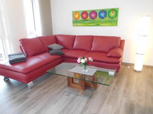 A seating area at Ferienwohnung Kurpark