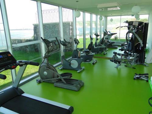 Gimnasio o instalaciones de fitness de Atlantida Mar Hotel
