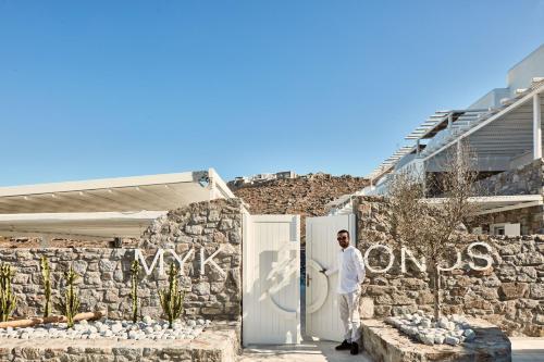 Mykonos No5 Luxury Suites & Villas during the winter