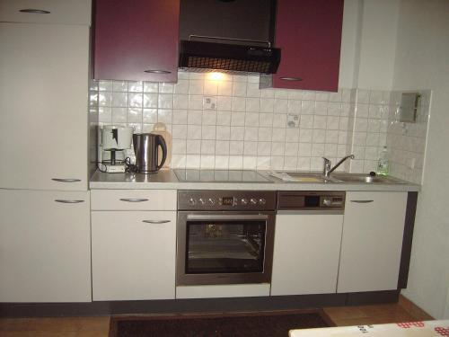 Küche/Küchenzeile in der Unterkunft Luenerhof