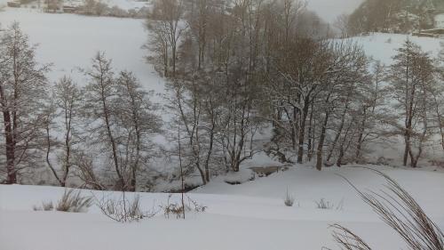 La bergerie St Didier en Velay 43140 during the winter