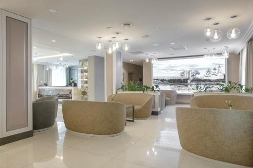 The lobby or reception area at Hotel Pokrovsky