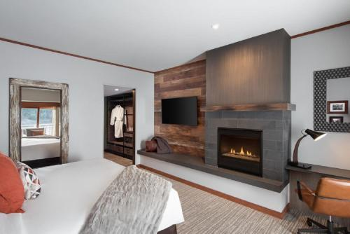 A television and/or entertainment centre at Salish Lodge & Spa