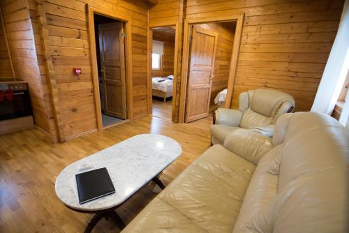 Area soggiorno di Guesthouse Grund