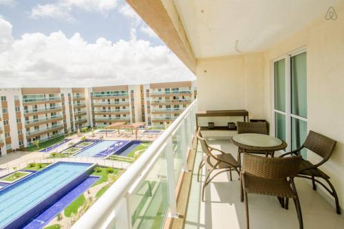 Uma varanda ou terraço em Apartamento Futurum no Vg Fun Residence