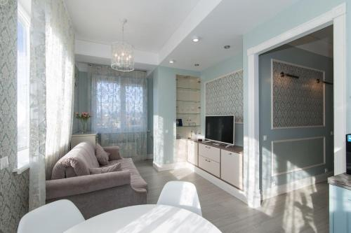 Гостиная зона в Apartment Zima-Leto
