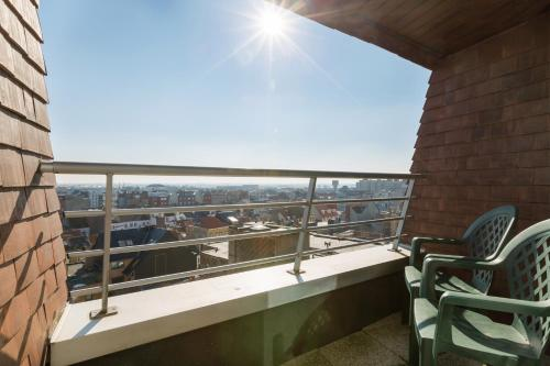 A balcony or terrace at Aparthotel Blankenberge